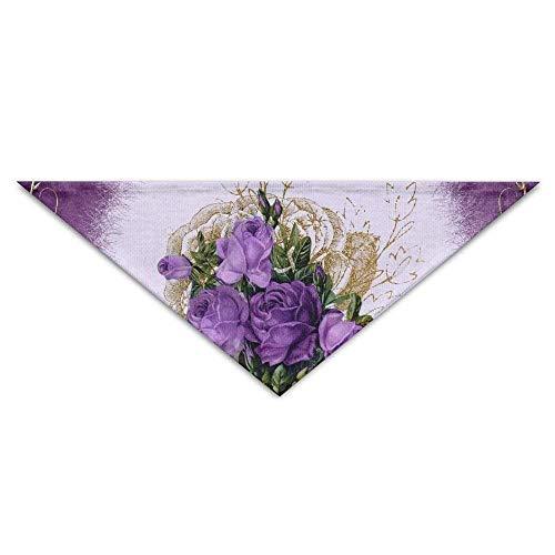 Gxdchfj Purple Flowers Triangle Pet Scarf Dog Bandana Pet Collars Dog Cat - Birthday (Zu Sie Hause Babys Für Halloween-kostüme Machen)