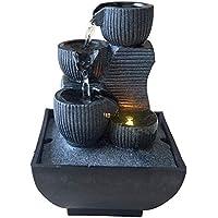 Zen Light Kini - Fuente de Interior con Bomba e iluminación LED, Resina, tamaño único
