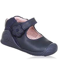 BIOMECANICS - Bailarina azul de cuero, ideal para el gateo y el primer paso,