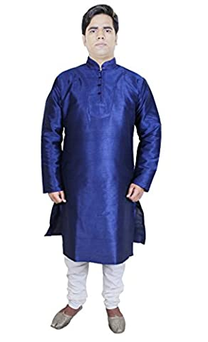 Kurta Pajama Fancy Elegant Silk Salwar Kameez Formal Casual Wedding Dress -L