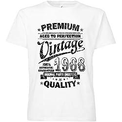 ShirtWorld - Aged to Perfection 1968 Zum 50. Geburtstag - Herren T-Shirt Weiß XL