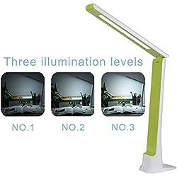 Ryham Dimmerabile Eye Care di lettura a LED Desk Lamp controllo sensibile al tocco di ricarica USB 5W ABS materiale separabile piedistallo della luce di notte con 3 livelli di luminosità Dormitorio camera Verde