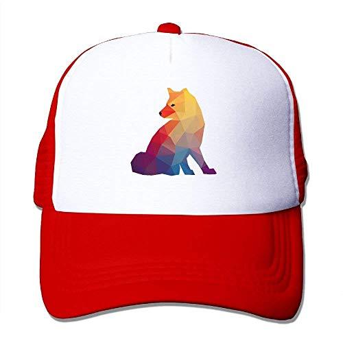 Wamnu Adult Geometric Fox Printed Baseball Caps Trucker Mesh Hat (Street Sharks Kostüm)