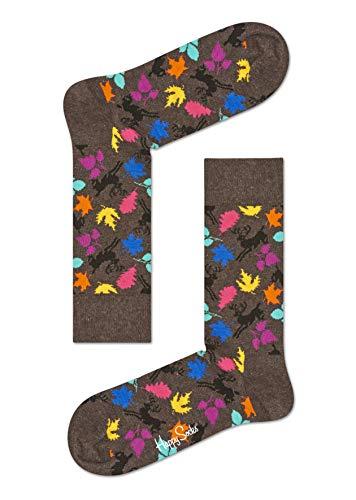 Happy Socks Herren Socken Deer, 1er Pack, (Braun 8000), One Size (Herstellergröße: 41-46)