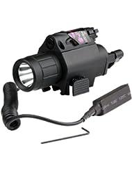 VERY100 Lampe Tactique Compacte et Verte Visée Laser Combo Tisserand Picatinny Montage Rail