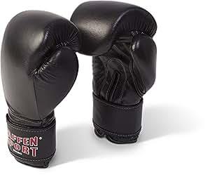 Paffen Sport KIBO FIGHT Boxhandschuhe für das Sparring; schwarz; 10UZ