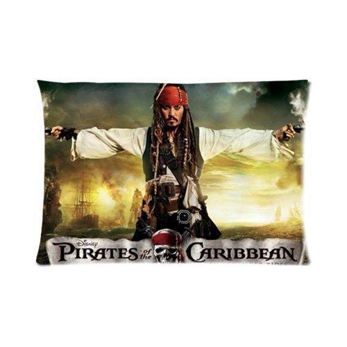 Jack Sparrow Fluch der Karibik Custom Rechteck Baumwolle Kissen Fall coverâ £ â ¬ One Seite (20x 30) von bakfub Kissenbezüge