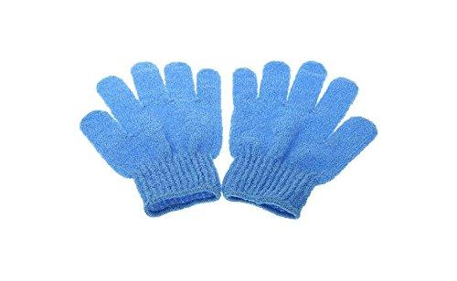 Rethinkso 1 Paar Hautpflege Bad Dusche Peeling-Handschuh Handschuh Fenders sauber und solide Handschuh (blue) -