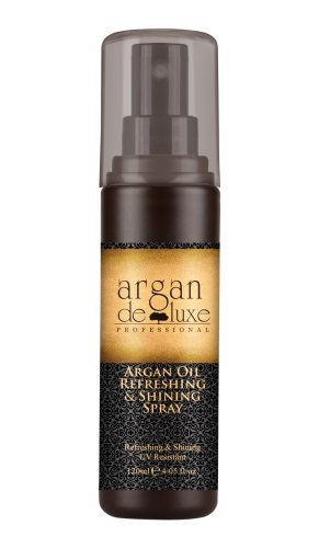 Argan DeLuxe Argan Huile d'Argan Spray Rafraîchissant & Brillant, Spray Soin avec protection solaire, 120ml, Soins des Cheveux Premium
