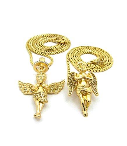 Engel Anhänger Set mit Kette Halskette- Bettend und -