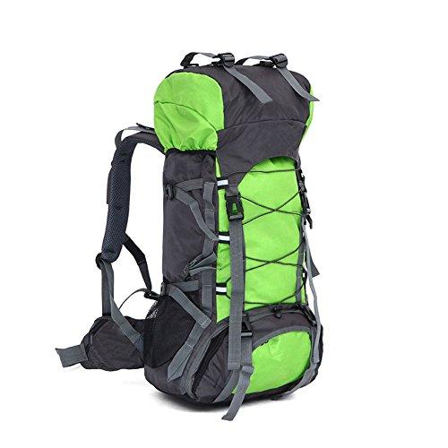 lokep Unisex 60L resistente all' acqua Grande Zaino da trekking escursionismo zaino sport all' aria aperta borsa da viaggio zaino alpinismo zaino borsa telaio interno per viaggio trekking campeggio ar Grass Green