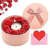 SPECOOL Regali di San Valentino per lei,Sapone Fiore di Rosa Candela Profumata, Il Miglior Regalo Romantico Ideale per lei a San Valentino, Festa della Mamma, Anniversario, Compleanno