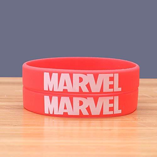 DuDuDu SilikonarmbäNder Kinder Handgelenk Gurt Marvel Comic-rotes Armband (5 Paare)