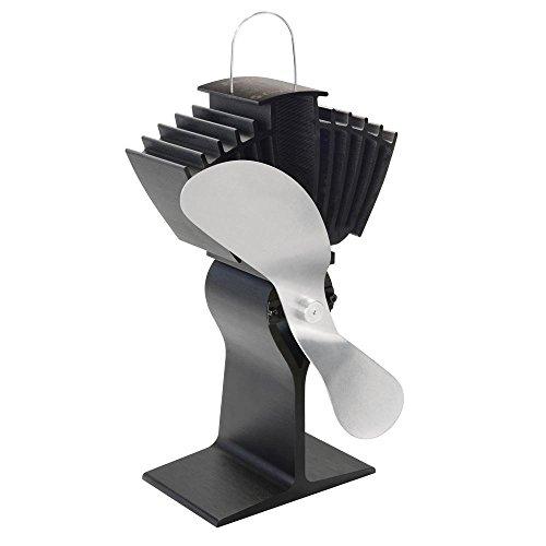 Preisvergleich Produktbild Caframo ECOFAN Airmax 812 Bin Hitze Powered Herd FAN – Nickel Klinge