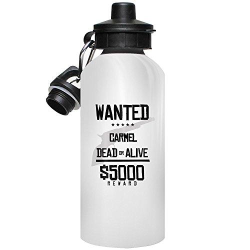 MugMax Carmel Water Bottle Wasserflasche, Personalisierte Geschenke, Sportsflasche mit Carmel, 600ml / 20oz (Carmel 20)