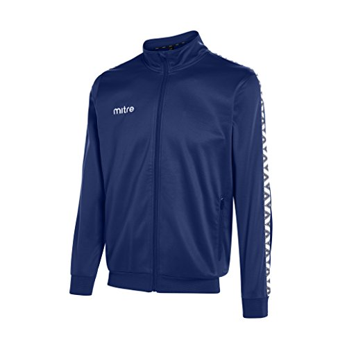Mitre Delta Poly Football Training Track Jacket - Navy White  Small 34-36 Inches