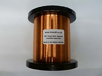 500g 0,063mm fil de cuivre émaillé. 42AWG Micro pour Guitare, émaillé aimant fil. Simple Construction & Solderable