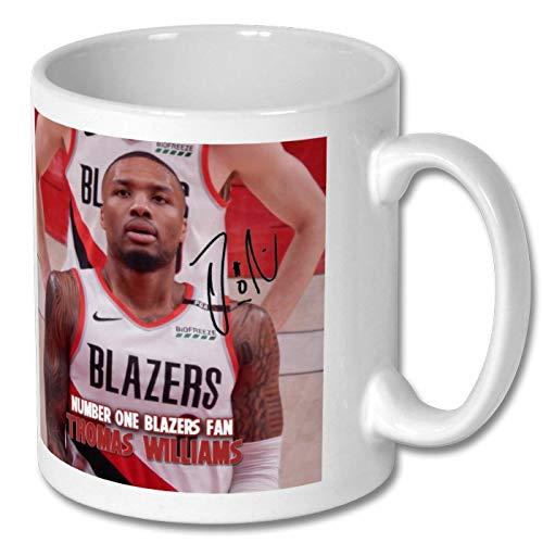 Star Prints UK Damian Lillard - Portland Trail Blazers - NBA 1 Personalised Gift Mug Coffee Tea Drink Cup Autograph Print (with Personalised Message)
