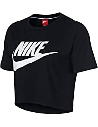 nike T-Shirt – Sportswear Essential Top Black/White Size: XS (X-Small)