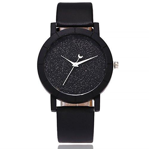 Ditracter Armbanduhren,Damen Lässige Quarz Leder Band Newv Strap Analog Uhren Wrist Watch Casual Armbanduhr Uhrenarmband Mädchen Frau Uhr (Schwarz)