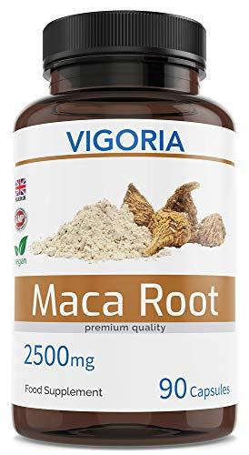 Maca Andina - 2500 mg 90 cápsulas para 3 meses - Extracto natural 10: 1 de polvo de pura raíz de maca peruana - Mejora los niveles de energía, resistencia, memoria - Da vitalidad a hombres y mujeres
