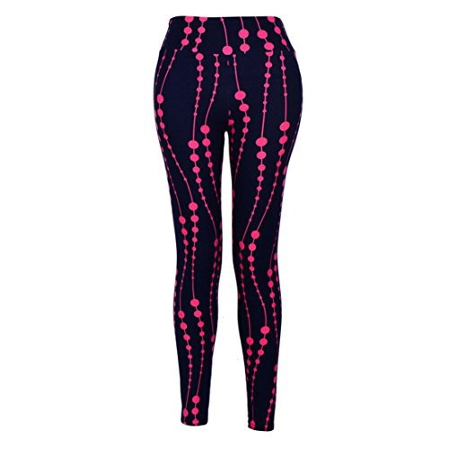 High Waist Fitness Stretch Leggings for 80s Workout