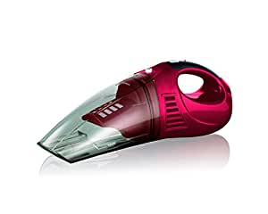 CLEANmaxx 01560 Cordless Handheld Vacuum Cleaner | 30 Watts | 20 min Operating Time | Red