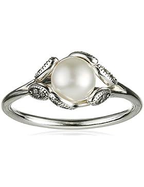 Pandora Damen-Ring Leuchtende Blätter 925 Silber Perle weiß - 190967P