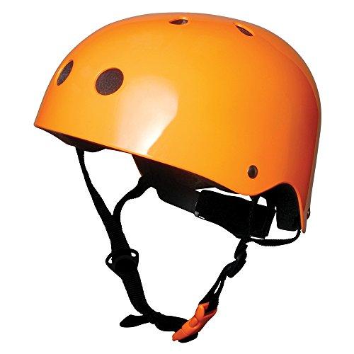Kiddimoto Kinder Fahrrad Helm 5-14 Jahre Neonorange 5-12