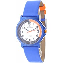 BLUMAR 09653 - Reloj analógico para niño/niña antialérgico - Azul y Naranja