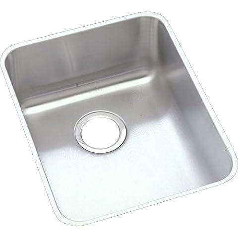 Elkao #Elkay ELUHAD141850 18 Gauge Stainless Steel 16.5 Inch x 20.5 Inch x 4.875 Inch single Bowl Undermount Kitchen Sink, by Elkay
