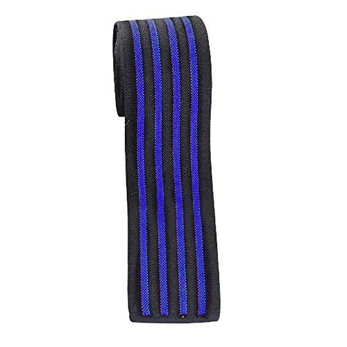 Zhuhaimei,2 Meter dickere männliche Trainingsgamaschen Verbandschutz Kniebeugengewichtheben(Color:Blau)