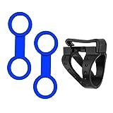 MagiDeal 2 Stück Universal Schnorchelhalter Silikon Doppelring + 1 Stück Schnorchelhalter Clip