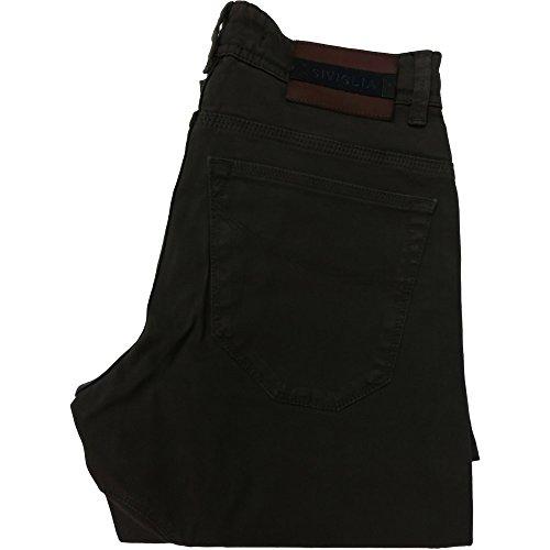 Siviglia pantalone 1008 uomo - Elasticizzato 97% cotone 3% elastane, made in italy, Marrone (30)