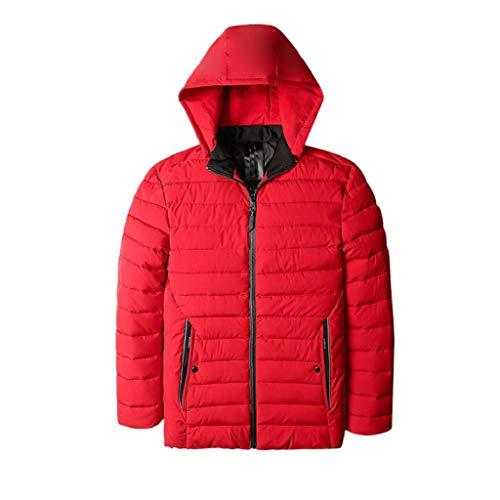 Luckycat Herren Herbst Winter warme beiläufige Tasche Zipper -