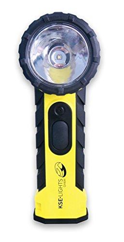 feuerwehr knickkopflampe KSE-LIGHTS GmbH 8890 LED-Handlampe mit rechtwinkligen Leuchtkopf - ATEX 1G / M1 -Zulassung