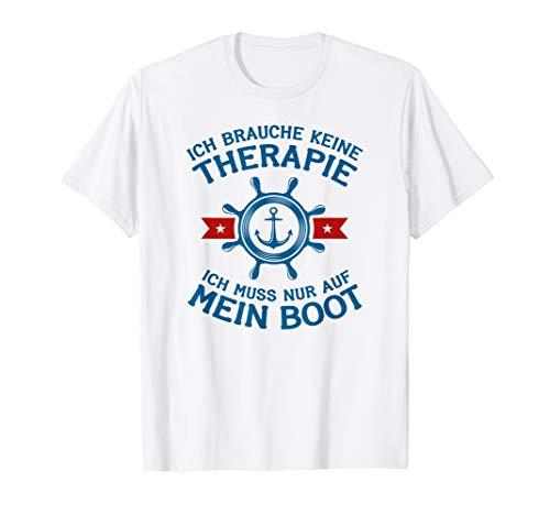Bootfahren Boot Therapie Anker Steuerrad T-Shirt
