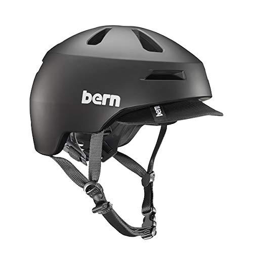 BEROG|#Bern Bern Brentwood 2.0 Matte Black Visor-Small Helm, Schwarz, S