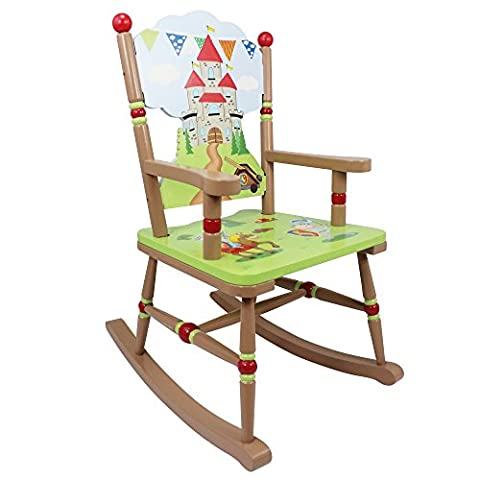 Fantasy Fields par Teamson Knights and Dragons Rocking Chair Multicolore