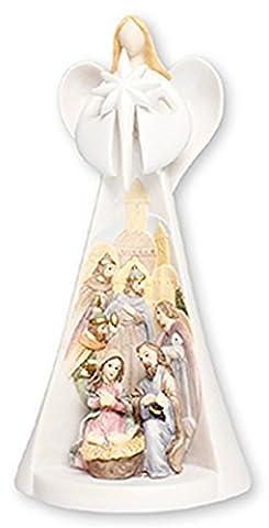 Angel Set de la Nativité avec lumière Ange cadeau élégant et moderne de Paradis
