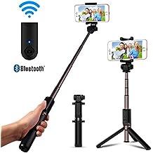 Perche Selfie Bluetooth, Luxsure Perché Selfie Stick Sans Fil avec Trepied Monopode Telecommande pour iPhone X/8/ 8 plus/7/7 plus/6 Samsung Huawei, Selfie Stick Baton Selfie pour IOS et Android Telephone Smartphone