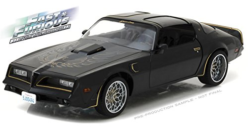 Pontiac Trans Am, Tegos, schwarz/gold, Fast & Furious, 1978, Modellauto, Fertigmodell, Greenlight 1:18