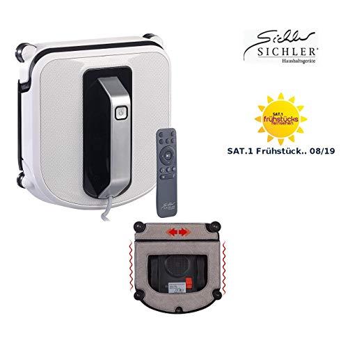 Sichler Haushaltsgeräte Fensterroboter: Profi-Fensterputz-Roboter mit Vibrationsreinigung und Fernbedienung (Fensterputzautomat)