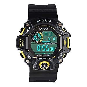 Kinder Digital Uhren Jungen Analog Kinderuhren, 5 ATM Wasserdicht Elektronische Analog Sport Multi-Funktion Armbanduhr Uhren mit Wecker/Dual Time/LED Licht für Jungen/Mädchen
