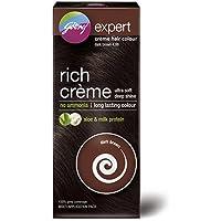Godrej Expert Rich Crème Hair Colour, Dark Brown, 62g+50ml (Multi Application Pack)