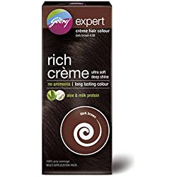Godrej Expert Rich Crème Hair Colour, Dark Brown, 62g+50ml (Multi Application Pack)