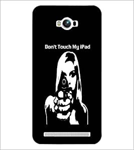 PrintDhaba Girl and Gun D-2370 Back Case Cover for ASUS ZENFONE MAX ZC550KL (2016) (Multi-Coloured)