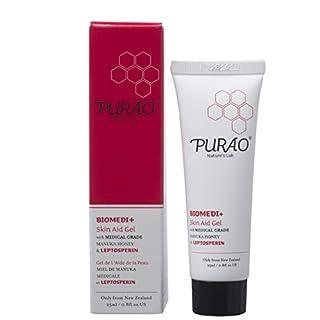 PURAO BIOMEDI+ Natural Wound Antibacterial antifungal Skin Aid Gel/Natural First Aid, Wound, Burn, Derma Treatment Gel with Medical Grade Manuka Honey 25ml