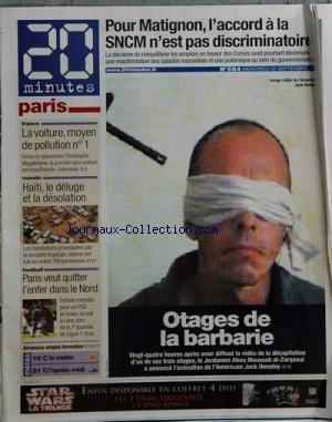 20 MINUTES PARIS [No 588] du 28/09/2004