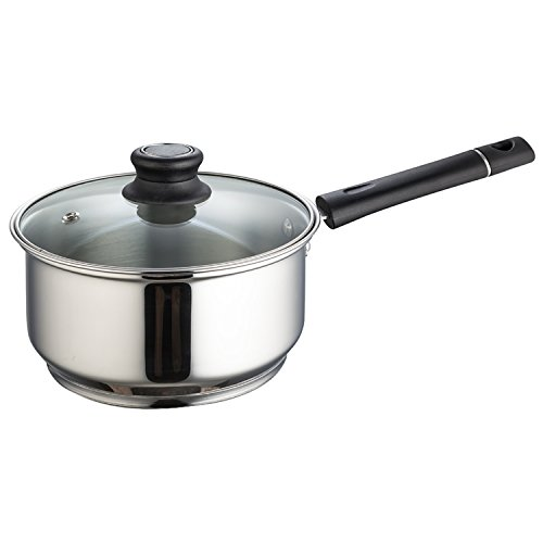 Krome Stainless Steel Royal Sauce Pan With Lid 16 Cm by Jindal Stainless